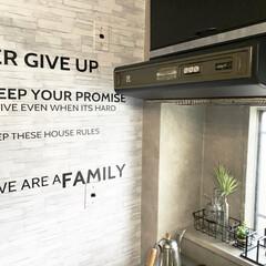 ダイソー/100均/DIY/キッチン収納/キッチン雑貨/キッチン/... キッチンの左手の壁、ダイソーのリメイクシ…