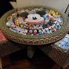 ディズニー/オリジナル/ウォーターヒヤシンス/アジアン/ミッキー/クリスマス/... ディズニー大好きファミリーのテーブルです…