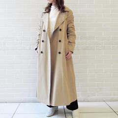 アラサーコーデ/コーディネート/春コーデ/B7/ファッション/Letalon B7春の新作✨ トレンチコートは人気で完…