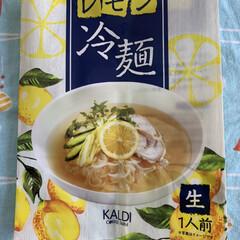 旬のフルーツ/ピンクレモン/冷麺/夏ご飯 昨夜のご飯と言うより冷麺とフルーツ❣️ …(2枚目)