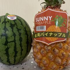 夏の味/小玉スイカ 今年初の小玉スイカ❣️ 今日はほぼ真夏日…(3枚目)