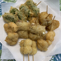 串揚げ/真似っ子ご飯 kazkun-BARの串カツ見たら食べた…(1枚目)