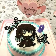 ケーキ作り/鬼滅の刃 鬼滅 無一郎 長女の誕生日ケーキ  あっ…