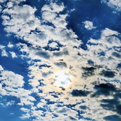 青空/雲/風景/景色/太陽/空/... 雲と太陽の感じ、すっっっごくイイッ‼️🤩…