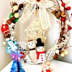 ツリー/クリスマス/折り紙/手作り/クリスマス飾り/クリスマスリース/... 今年のわが家のクリスマス飾り🎄😆✌️⭐️…