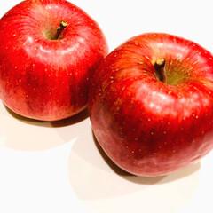 フルーツ/果物/リンゴ/暮らし/フォロー大歓迎 昨日、旦那さまが職場からリンゴをもらって…
