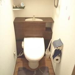 ダイソー/100均/トイレ/DIY/キャンドゥ/リメイクシート/... 賃貸マンションのトイレをDIYしました。…