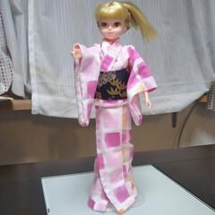 おもちゃ/人形の洋服/ハンドメイド/100均/リカちゃん リカちゃんの浴衣初挑戦!ミシンでやればよ…(2枚目)