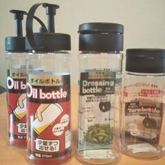 キャンドゥ/オイルボトル/キッチン雑貨/100均/キッチン/ドレッシングボトル キャンドゥにて。今まで油、醤油にはボトル…