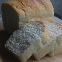 タピオカスターチ入り/ホームベーカリー/手作りパン/パン作り/パン/おうち時間/... 食パンを作りました。 余っていたタピオカ…(2枚目)