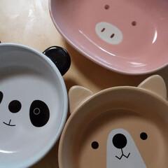 お皿/キッチン雑貨/おしゃれ/動物モチーフグッズ 子供が小さい時に買ったお皿です。 ブタ、…