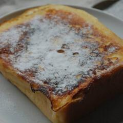 パン屋さんの食パン/食パンアレンジ/チョコバナナフレンチトースト/フレンチトースト/おうちカフェ/おうち時間/... チョコバナナフレンチトーストを作りました…(2枚目)