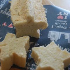 星型/食パン/手作りパン/おうち時間 星形の型で食パン焼きました。 型外しやり…
