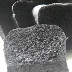 黒いパン/竹炭パウダー/あさごぱん/朝ごはん/ホームベーカリー/手作りパン/... 竹炭パウダーを入れて黒いパンを作りました…(1枚目)