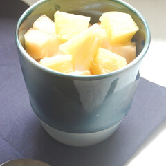 パイナップルの日/パイナップル/ヨシュア工房/砥部焼/フルーツヨーグルト/昼ごはん/... 8月17日はパイナップルの日だそうです。…