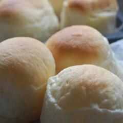 まんまるパン/レンジでカスタードクリーム作り/カスタードクリーム/クリームパン/手作りパン/あさごぱん/... まんまるカスタードクリームパン出来ました…