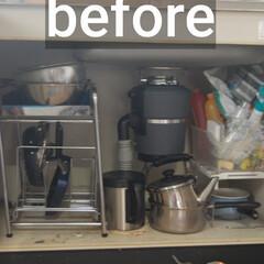 「台所のシンク下の模様替えをしました。 棚…」(2枚目)