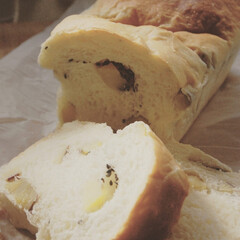 あさごぱん/朝ごはん/さつまいも消費/さつまいもパン/ホームベーカリー/手作りパン/... さつまいもパンを作りました。 さつまいも…(1枚目)