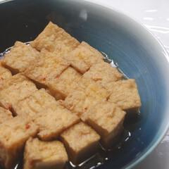 一眼レフカメラ/厚揚げ豆腐/甘辛煮/晩ごはん/おうちごはん/スタミナ丼/... 厚揚げの甘辛煮作りました。 栗原はるみさ…