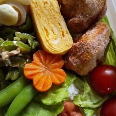 お弁当記録/お弁当おかず/おべんとう/手作り弁当 のだこさんに教えてもらったニンジンの飾り…