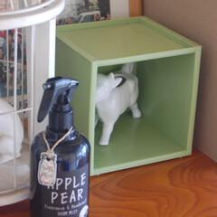 ジョンズブレンド ルームミスト | ノルコーポレーション(部屋用)を使ったクチコミ「我が家のキューブボックス②です。 ただの…」