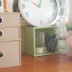 時計置き/玄関の飾り/玄関の収納/キューブボックス/組み合わせ自由/あなたはどうする?/... 我が家のキューブボックスと言えば、 玄関…