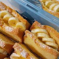 業務用スーパー/バナナシフォンケーキ/シフォンケーキ/粉砂糖/持ち寄りスイーツ/おすそわけ/... バナナシフォンケーキ作りました。 今日は…
