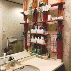 DIY収納/収納/簡単/暮らし 洗面台のまわりにだんだん物が増えてしまっ…