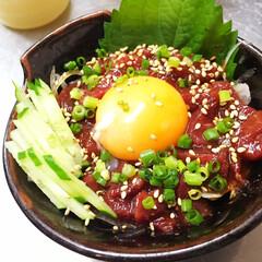 グルメ/馬刺/熊本/食材/生肉/ユッケ/... ⭐️熊本名産品の馬刺のユッケ  美味しそ…