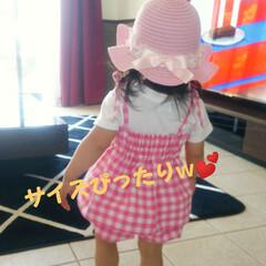 ベビー服手作り/むすめ服/セットアップ/手作り子供服/ミシンで制作/ハンドメイド/... 暑くなってきたので娘の洋服を作りました😁…