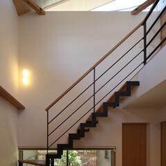 階段/ハイサイド窓/ハイサイドライト/建築/シンプル/住宅/... 縁の家 -四季折々の風景を感じながら暮ら…