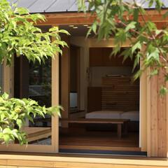 中庭/縁側/軒先き/軒/床座/居間 縁の家 -四季折々の風景を感じながら暮ら…
