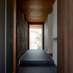玄関/庭/BBQ/住宅/玄関土間/玄関ホール/... 海 望む家 ー景色をゆったりと愉しむ家ー…