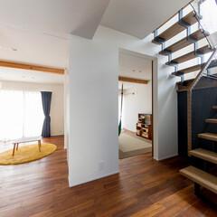 子供部屋/階段ホール/階段下収納/階段収納/収納/階段/... 海 望む家 ー景色をゆったりと愉しむ家ー…