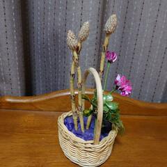 春/花/アメリカンフラワー 今の時期にだけ部屋を飾ってくれる つくし…