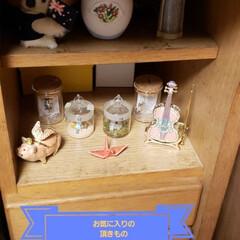 ディスプレイコーナー/可愛い雑貨/綺麗な小物/頂き物/雑貨/ここが好き とっても小さいスペースですが、気に入って…