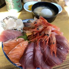 ボリューム満点/海鮮丼 今日の昼は苫小牧のマルトマ食堂 平日だけ…(2枚目)
