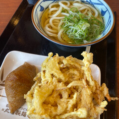 天ぷら/丸亀/うどん/お昼 今日のお昼は久しぶりに丸亀製麺😊