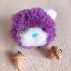 ねこ/猫/にゃんこ/チャーム/キーホルダー/もふもふ/... ねこキーホルダー【Fluffy kitt…