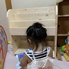 絵本棚DIY/本棚/収納/DIY/インテリア/絵本棚 今日は娘の本を整理する為に絵本棚を作りま…(2枚目)