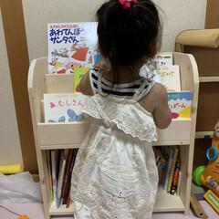 絵本棚DIY/本棚/収納/DIY/インテリア/絵本棚 今日は娘の本を整理する為に絵本棚を作りま…(3枚目)