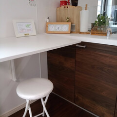 ワークスペース/IKEA/折り畳み/デスク /カウンター カウンター下の収納扉が開けられるように、…