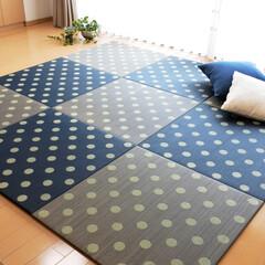 置き畳/フロア畳/ユニット畳/琉球畳/い草/畳/... 一見、畳には見えないかもしれませんが、写…