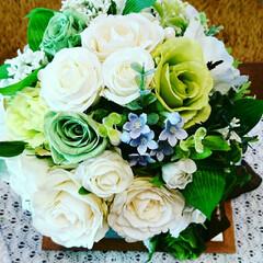 オーダーブライダルブーケ 5月の花嫁様のためにお作りした、ブライダ…