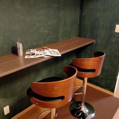 バーカウンター/おうちでカフェ/バーチェア/DIY/住まい/イケア やっとバーチェアが配送されたー! おうち…