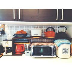 カフェスペース/背面収納/ペンダントライト/DeLonghi/TOFFY/トースター/... 最近の我が家のカフェスペース☆  コーヒ…(2枚目)