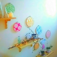 colorful/カラフル/ワイヤープランツ/アルパカ/小瓶/多肉植物/... 先日の引きpic☆ 階段ホールの壁に3段…(1枚目)