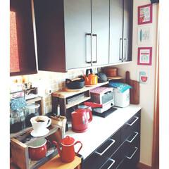 トースター/ホームベーカリー/電気ケトル/鉄瓶/ケトル/キッチン家電/... キッチンの棚をちょっと見直し。  増設に…
