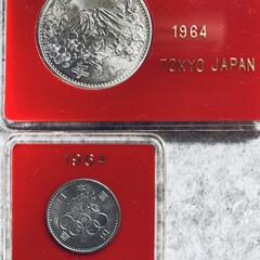 1964年/記念硬貨/硬貨/東京オリンピック/オリンピック こんにちはヽ(^0^)ノ 朝方の雨も上が…(2枚目)