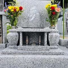 御墓参り/お墓/彼岸の入/彼岸 おはようございます。🎶 曇りがちな天気で…